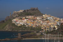 Town on a hill, Castelsardo, Sassari, Sardinia, Italy von Panoramic Images