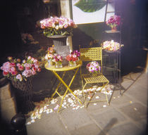 Flower bouquets at a florist's shop, Bouquet d' Amour, France by Panoramic Images