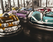 Bumper cars in an amusement park by Panoramic Images