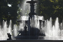 Fountain in a park, General San Martin Park, Mendoza, Argentina von Panoramic Images