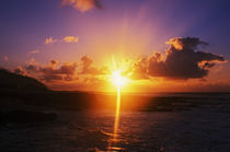Sunrise over ocean, Sandy Beach Park, O'ahu, Hawaii, USA. by Panoramic Images
