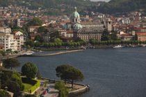 City at the waterfront, Como, Lake Como, Lakes Region, Lombardy, Italy von Panoramic Images