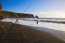 Sea Angling at Ballydowane Beach, Copper Coast, County Waterford, Ireland von Panoramic Images