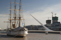 Training ship with a footbridge von Panoramic Images