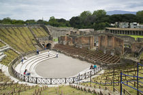 High angle view of tourists at an amphitheater von Panoramic Images
