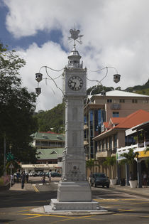 Clock tower in a city, Victoria, Mahe Island, Seychelles by Panoramic Images