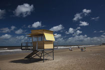 Lifeguard hut on the beach, Carrasco Beach, Carrasco, Montevideo, Uruguay by Panoramic Images