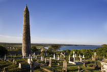 12th Century Round Tower, St Declan's Cathedral, Ardmore, Co Waterford, Ireland by Panoramic Images