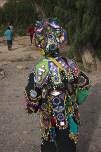 Child wearing costume in a carnival, Tilcara, Quebrada De Humahuaca, Argentina by Panoramic Images