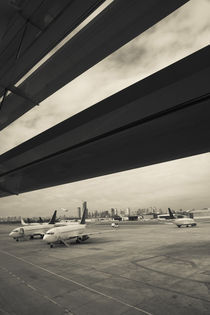 Airplanes on a runway, Jorge Newbery Airport, Buenos Aires, Argentina by Panoramic Images