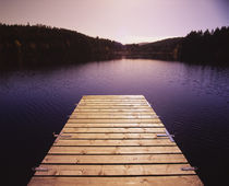 Pier on a lake, Northern Black Forest Region, Baden-Wurttemberg, Germany by Panoramic Images