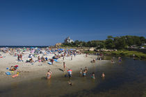 Tourists on the beach von Panoramic Images