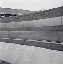 Text on the wall of a memorial by Panoramic Images