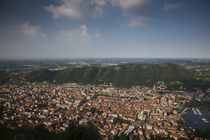 Aerial view of a city, Como, Lake Como, Lakes Region, Lombardy, Italy by Panoramic Images