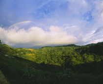 Clouds and rainbow over a mountain, Costa Rica von Panoramic Images