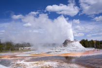 Castle Geyser Erupting by Panoramic Images