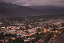 High angle view of a town at dusk, Tilcara, Quebrada De Humahuaca, Argentina by Panoramic Images