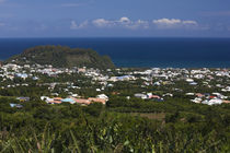 Aerial view of a town, St. Joseph, Reunion Island von Panoramic Images