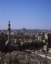 Mosque in a city, Damascus, Syria von Panoramic Images