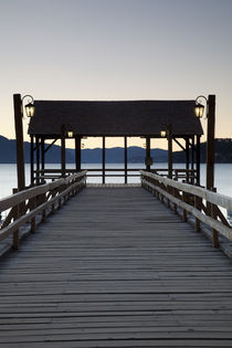 Pier at a lake by Panoramic Images