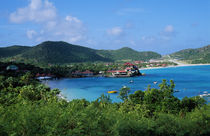 Resort setting, Saint Barth, West Indies. by Panoramic Images