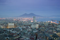 High angle view of a city, Mt Vesuvius, Naples, Campania, Italy von Panoramic Images