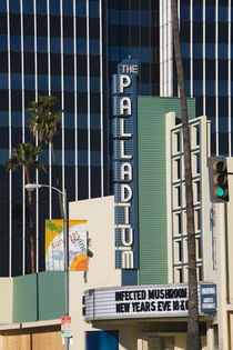 Theater in a city, Hollywood Palladium, Hollywood, Los Angeles, California, USA von Panoramic Images