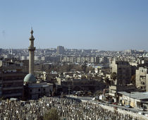 Graveyard in a city, Damascus, Syria by Panoramic Images