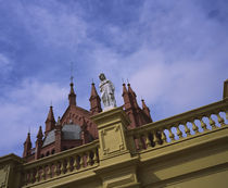 Low angle view of a statue on the top of a building, Buenos Aires, Argentina von Panoramic Images