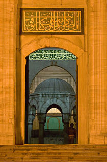 Entrance of a mosque, Blue Mosque, Istanbul, Turkey by Panoramic Images