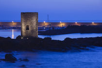 Tower at a port, Spanish Tower, Castelsardo, Sassari, Sardinia, Italy von Panoramic Images