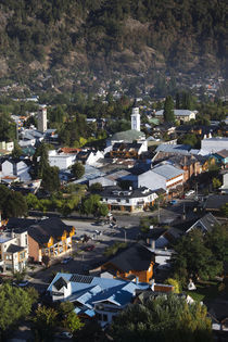 High angle view of a town, San Martin De Los Andes, Lake District, Argentina von Panoramic Images