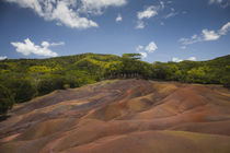 Rock formations on a landscape, Chamarel Coloured Earths, Chamarel, Mauritius von Panoramic Images