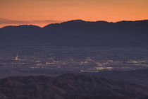 Coachella Valley and Palm Springs from Key's View by Panoramic Images