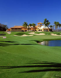 Golf course at Isla Navadad Resort in Manzanillo, Colima, Mexico by Panoramic Images