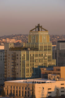 Buildings in a city, Eastern Columbia Building, Los Angeles, California, USA by Panoramic Images