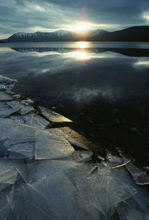 Broken Shoreline Ice On Mcdonald Lake by Panoramic Images