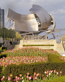 USA, Illinois, Chicago, Millennium Park, Pritzker Pavilion, Outdoor amphitheater by Panoramic Images
