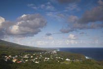 Aerial view of a town, Basse Vallee, St. Philippe, Reunion Island von Panoramic Images