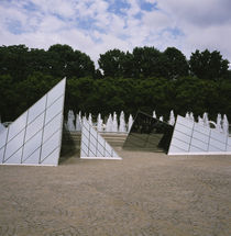 Pyramids in a garden, National Gallery Of Art, Washington DC, USA by Panoramic Images