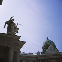 Low angle view of statues on a palace, The Hofburg Complex, Vienna, Austria von Panoramic Images