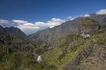 Clouds over a mountain range, Ilet a Cordes, Cirque de Cilaos, Reunion Island von Panoramic Images