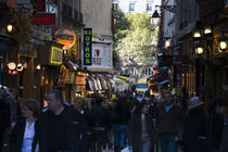Tourists in a city, Rue De La Huchette, Left Bank, Paris, Ile-de-France, France by Panoramic Images
