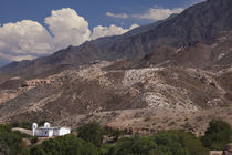 Building on a hill, El Carmen, Calchaqui Valleys, Salta Province, Argentina von Panoramic Images