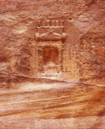 Details of carving on a rock, Petra, Jordan von Panoramic Images