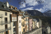 Buildings built above town walls, Briancon, Provence-Alpes-Cote d'Azur, France by Panoramic Images