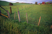 Landscape With Farm And Fenceline von Panoramic Images