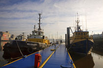 Tugboats at Moorings, Waterford City, County Waterford, Ireland von Panoramic Images
