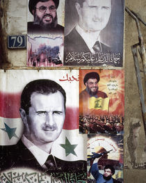Political posters of President Bashar al-Assad, Syria by Panoramic Images