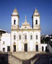 Facade of a church, Salvador, Brazil von Panoramic Images